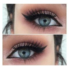 How to Rock Makeup For Blue Eyes Easy Makeup Tutorials Ideas ❤ liked on Polyvore featuring beauty products, makeup and eye makeup #'easymakeupideas'
