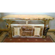 Aspen Log TV Stand Credenza Www.signaturelogfurniture.com