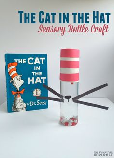 The Cat in the Hat Sensory Bottle Craft Ideas for Kids inspired by Dr. Seuss