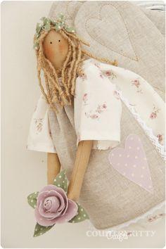 Lavender Shabby Home Angel - Love the flower detail!