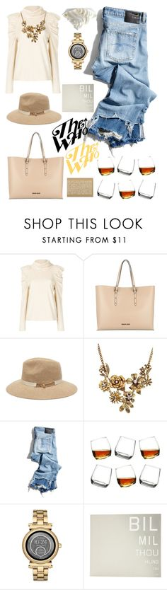 """""""Just chill"""" by felicitysparks ❤ liked on Polyvore featuring M.i.h Jeans, Armani Jeans, WithChic, R13 and Michael Kors"""