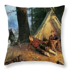 Its A Bear Throw Pillow by JQ Licensing