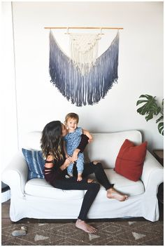 The Hollar-days - DIY macrame wall hanging. need to do this for living room or over the bed!