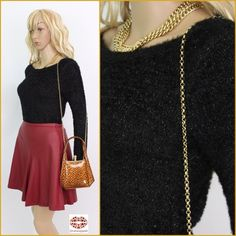 """NWOT. BLACK GOLD SWEATER ⚫️Speechless  Nordstrom⚫️ Gorgeous fuzzy black sweater with gold metallic yarn. Simple but festive. Label XS but Very stretchy fabric (97% polyester) makes it fit many sizes. Length: 21"""". Armpit to armpit 18"""" plus 10"""" stretch!! Bought at Nordstrom last year thinking  about Holidays but never got a chance to wear it. Like new. Speechless Sweaters Crew & Scoop Necks"""