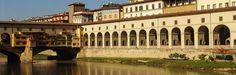 Firenze - Corridoio Vasariano - Il corridoio lungo il fiume Arno - Nel corridoio vasariano: opere dei sec. XVII e XVIII e la collezione degli autoritratti dal '500 ad oggi