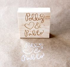 custom wedding stamp / great for diy weddings!