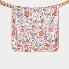 STICKLE Organic Cotton Underwater Print Pink/Orange Baby Shawl/Blanket