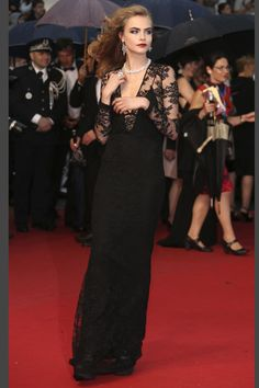 Cara Delevingne in Burberry at Cannes 2013