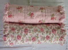 Your place to buy and sell all things handmade Diy Sewing Projects, Sewing Ideas, Sewing Crafts, Pale Pink, Pink Roses, Flannel Rag Quilts, Fabric Board, Baby Sewing, Baby Blankets