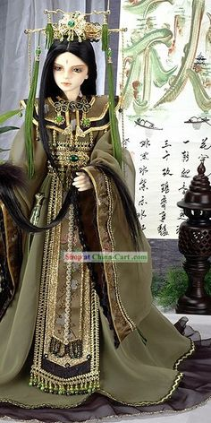 Ancient Chinese Prince Costumes and Hat Set Prince Costume, Bjd Doll, Chinese Dolls, Oriental Dress, Asian Doll, Period Outfit, Chinese Clothing, Doll Costume, Japanese Outfits