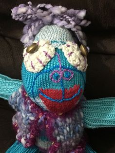 Based on a childhood memory of comfort and security, an earliest toy, this sculpture series is made out of recycled hand made socks that have been darned. Early childhood memories also include knitting, crocheting and needlework done by my mother and friends.