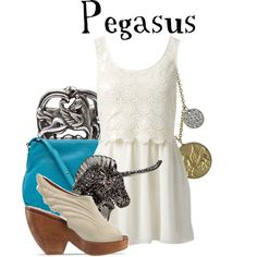 """""""Pegasus"""" by agust20 on Polyvore; love the shoes and ring"""