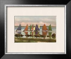 Rainbow Fleet, Nantucket, Massachusetts Giclee Print at Art.com