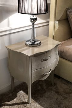 The Italian Designer Lacquered Alligator Bedside Table adds style and sophistication to any setting. This beautiful bedside table is the most stunning, stylish storage solution. Use as a bedside cabinet, modern side table or unique small chest of drawers in any room in the house. Truly versatile!