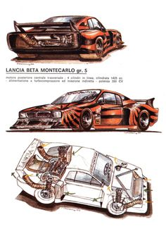 Lancia Beta Montecarlo Gr5 Illustrated by Paolo D'Alessio