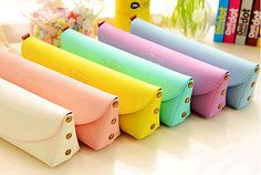 Lovely Cute Pony Creative Minimalist Leather Pencil Case New School Pencil Case