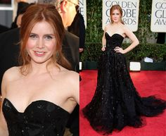 I love the edgy sparkling black dress that Amy Adams wore.