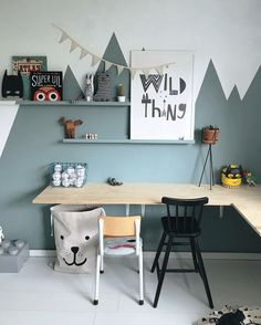 The Study Area in a Kid's Room - by Kids Interiors
