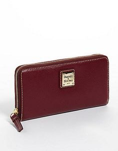 Large Zip Leather Wallet | Lord and Taylor