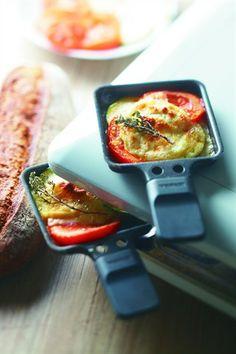 Raclette au chèvre, tomates, courgette - Larousse Cuisine