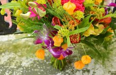 Colourful wedding bouquet by Bettie Rose Flowers