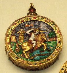 The George Jewel / Enamelled gold, continental Europearn.