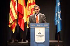 Don Felipe durante su intervención en la reunión de Constitución del Comité de Honor de los Juegos Mediterráneos Tarragona 2017. 16.03.2015