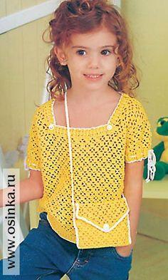 * ARTE EM CROCHET *: Blusa de crochet infantil