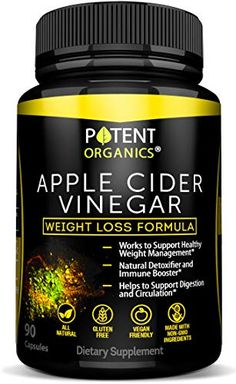 Organic Apple Cider Vinegar - 90 Capsules for Healthy Diet & Weight Loss- Pure, Raw, Vegan and Non-GMO - Helps Digestion - Made in USA - Add to Garcinia Cambogia and Your Diet Kits & Systems - Top Seller Website Apple Cider Vinegar Tablets, Natural Apple Cider Vinegar, Apple Cider Vinegar Pills, Apple Cider Vinegar Benefits, Vinegar Weight Loss, Natural Detox, Healthy Weight, Raw Vegan, Body Detox