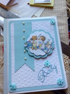 Baby boy card for a baby shower