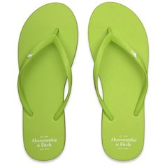 Abercrombie & Fitch Preppy Flip Flops ❤ liked on Polyvore