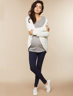 Secret Fit Belly Maternity Leggings, Navy