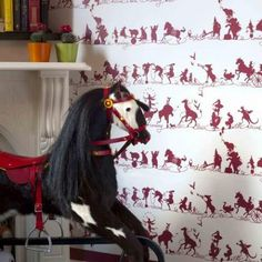 Catherine Martin Kids Wallpaper- Circus in Ruby