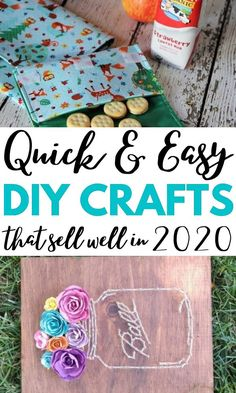 AWESOME DIY Crafts To Sell Well At Craft Fairs. These fast Easy Diy Crafts, Diy Crafts To Sell, Handmade Crafts, Crafts For Kids, Diy Projects To Make And Sell, Diy Craft Projects, Project Ideas, Craft Ideas, Dollar Store Crafts