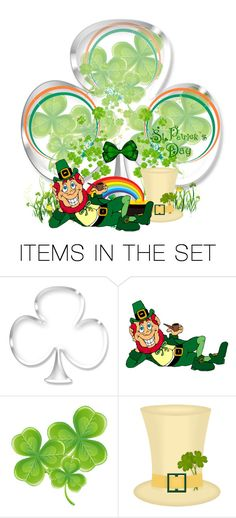 """St. Patricks Day Shamrock Globe"" by majezy ❤ liked on Polyvore featuring art"