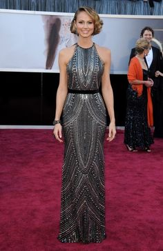 Stacy Keibler in Naeem Khan. In love with this dress.