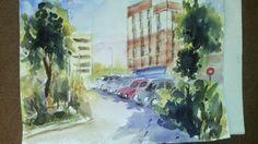 Pintar acuarelas: Una de urbanos