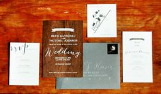 Woodsy Screen Printed Walnut Wedding Invitations via @Oh So Beautiful Paper: http://ohsobeautifulpaper.com/2014/01/beth-tomus-woodsy-screen-printed-walnut-wedding-invitations/ | Design: @Nikkol | Peter Loves Jane | Screen Printing: Cards of Wood | Calligraphy: BP Calligraphy | Wedding Photography: Alixann Loosle Photography | Event Planning: Attention 2 Detail | Photo Credits: Peter Loves Jane and Alixann Loosle Photography #letterpress #wedding
