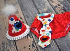 Boys Birthday Party Hat Diaper Cover Tie First Birthday Smash