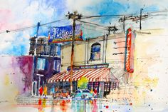 Watercolor painting of Philippes by artist Joesph Stoddard
