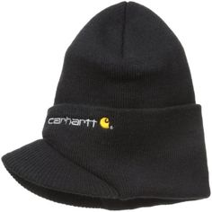 3e4ec3ed02b Carhartt Outdoor Winter Snow Men Warm Acrylic Knit Hat With Visor Black One  Size