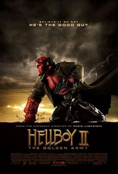 Hellboy II: The Golden Army (2008) PG-13  -  Stars: Ron Perlman, Selma Blair, Doug Jones.  -  The mythical world starts a rebellion against humanity in order to rule the Earth, so Hellboy and his team must save the world from the rebellious creatures.  - ACTION / ADVENTURE / FANTASY