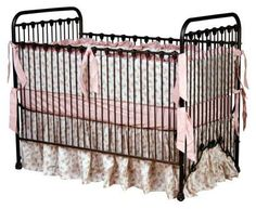 Classic Iron Vintage Baby Crib - Available at StylishVintageBaby.com