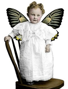 Free Photo Friday :: Fairy Baby by Landofnodstudio Antique Photos, Vintage Pictures, Vintage Photographs, Vintage Images, Vintage Labels, Vintage Ephemera, Decoupage Vintage, Free To Use Images, Free Photos