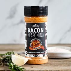 Delicious recipes with Bacon Seasoning. Make anything taste like bacon. Bacon chips, bacon popcorn, bacon everything. Quick Vegetarian Meals, Vegetarian Cooking, Vegetarian Lunch, Feijoada Recipe, Bacon Seasoning, Seasoning Mixes, Bbq Bacon, Roasted Vegetables, Healthy Snacks
