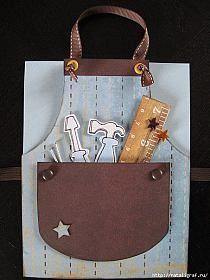 Fix-It themed apron birthday card JIM ED Masculine Birthday Cards, Birthday Cards For Men, Masculine Cards, Birthday Ideas, Happy Birthday, Boy Cards, Cute Cards, Tarjetas Diy, Karten Diy