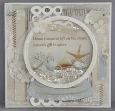 Beach globe card