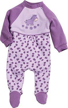 Playshoes Baby - Mädchen Schlafstrampler Schlafanzug Schlafoverall Pferd, Gr. 80, Violett (original 900)