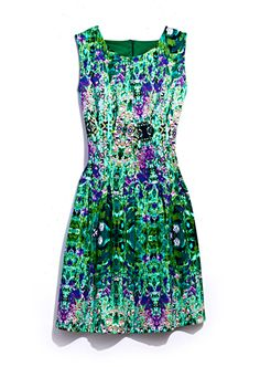 Get flirty with this designer floral dress
