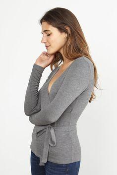 3a189fc725 Sonia Wrap Top (Marengo Grey) – Long Sleeve